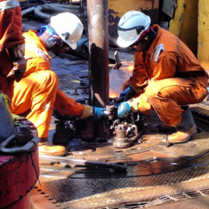 Drilling on the Maersk Deliverer