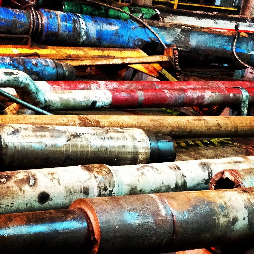 Drill pipes, Maersk Deliverer